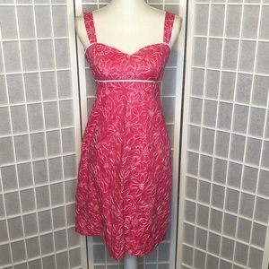 Lilly Pulitzer hot pink & white sundress size 4